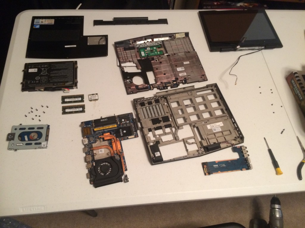 Lappy MKII is in pieces!